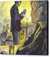 Bb Jazz Canvas Print by Carol Wisniewski