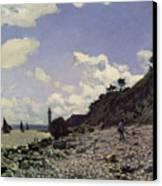 Beach At Honfleur Canvas Print by Claude Monet