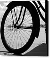 Beach Bicycle Canvas Print