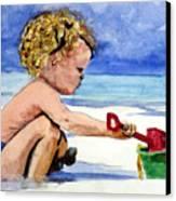 Beach Construction Canvas Print