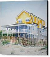 Beach Front At Wrightsville Beach Canvas Print