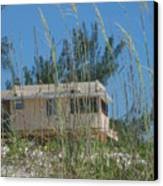 Beach House Through Sea Oats Canvas Print