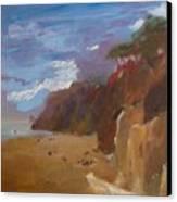 Beach In Santa Barbara Canvas Print