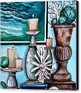 Beach Nautical Decor Canvas Print by Elizabeth Robinette Tyndall