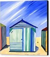 Beach Shacks Canvas Print