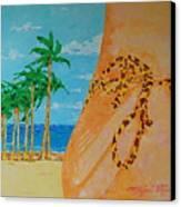Beach Side View Canvas Print