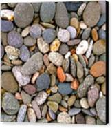 Beach Stones And Pebbles Canvas Print by Sophie De Roumanie