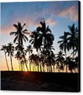 Beach Sunset Canvas Print by Mike Reid