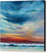 Beach Sunset Canvas Print by Prashant Shah