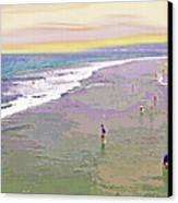 Beachgoers 1 Canvas Print