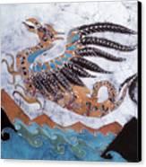 Beaked Dragon Flies Above The Sea Canvas Print by Carol  Law Conklin