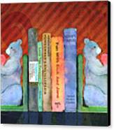 Bear Bookends Canvas Print by Arline Wagner