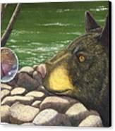 Bear Bubble Canvas Print