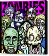 Bearded Zombies Group Photo Canvas Print