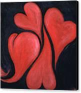 Beating Hearts  Canvas Print
