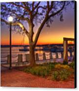 Beaufort Waterfront Canvas Print