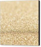 Beautiful Champagne Gold Glitter Sparkles Canvas Print
