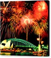 Beautiful Colorful Holiday Fireworks 2 Canvas Print by Lanjee Chee