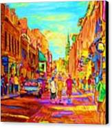 Beautiful Day  In The City Canvas Print