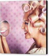 Beautiful Model With Fresh Makeup And Hairstyle Canvas Print by Jorgo Photography - Wall Art Gallery