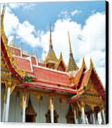 Beautiful Temple Canvas Print by Somchai Suppalertporn