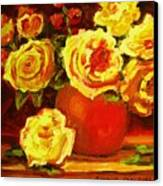 Beautiful Yellow Roses Canvas Print
