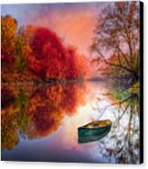 Beauty At The Lake Canvas Print by Debra and Dave Vanderlaan