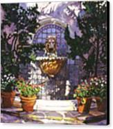 Bellagio Fountain Canvas Print by David Lloyd Glover