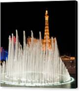 Bellagio Fountains Night 2 Canvas Print by Andy Smy