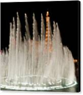 Bellagio Fountains Night 3 Canvas Print by Andy Smy