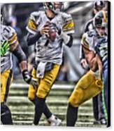 Ben Roethlisberger Pittsburgh Steelers Art Canvas Print