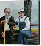 Bench Warmers Canvas Print by Bob Hallmark
