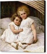 Beneath The Wing Of An Angel Canvas Print by William Strutt