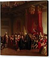 Benjamin Franklin Appearing Before The Privy Council  Canvas Print