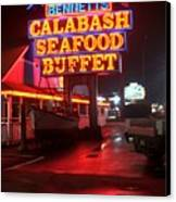 Bennetts Calabash Seafood Buffet Myrtle Beach Canvas Print by Corky Willis Atlanta Photography