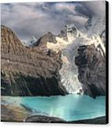 Berg Lake, Mount Robson Provincial Park Canvas Print by Clarke Wiebe