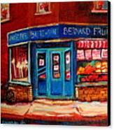 Bernard Fruit And Broomstore Canvas Print