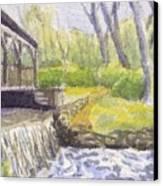 Beside The Dam Canvas Print