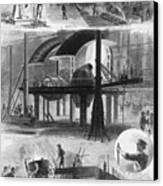 Bessemer Steel Manufacture. Six Canvas Print by Everett