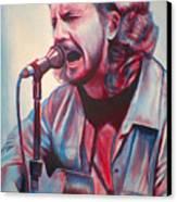 Betterman Eddie Vedder Canvas Print by Derek Donnelly
