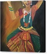 Bharatnatyam Canvas Print by Shruti Prasad