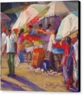 Bhuj Street Market Canvas Print by Beth Brooks