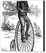 Bicycle, C1870s Canvas Print by Granger