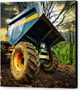 Big Bad Dumper Truck Canvas Print by Meirion Matthias