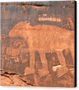 Big Bear Petroglyph Canvas Print