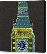 Big Ben Glowing Canvas Print