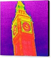 Big Ben, Uk, Thermogram Canvas Print by Tony Mcconnell