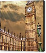 Big Ben's House Canvas Print by Meirion Matthias