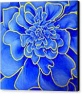 Big Blue Flower Canvas Print by Geoff Greene