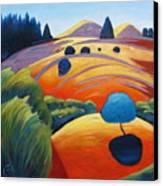Big Blue Tree Canvas Print